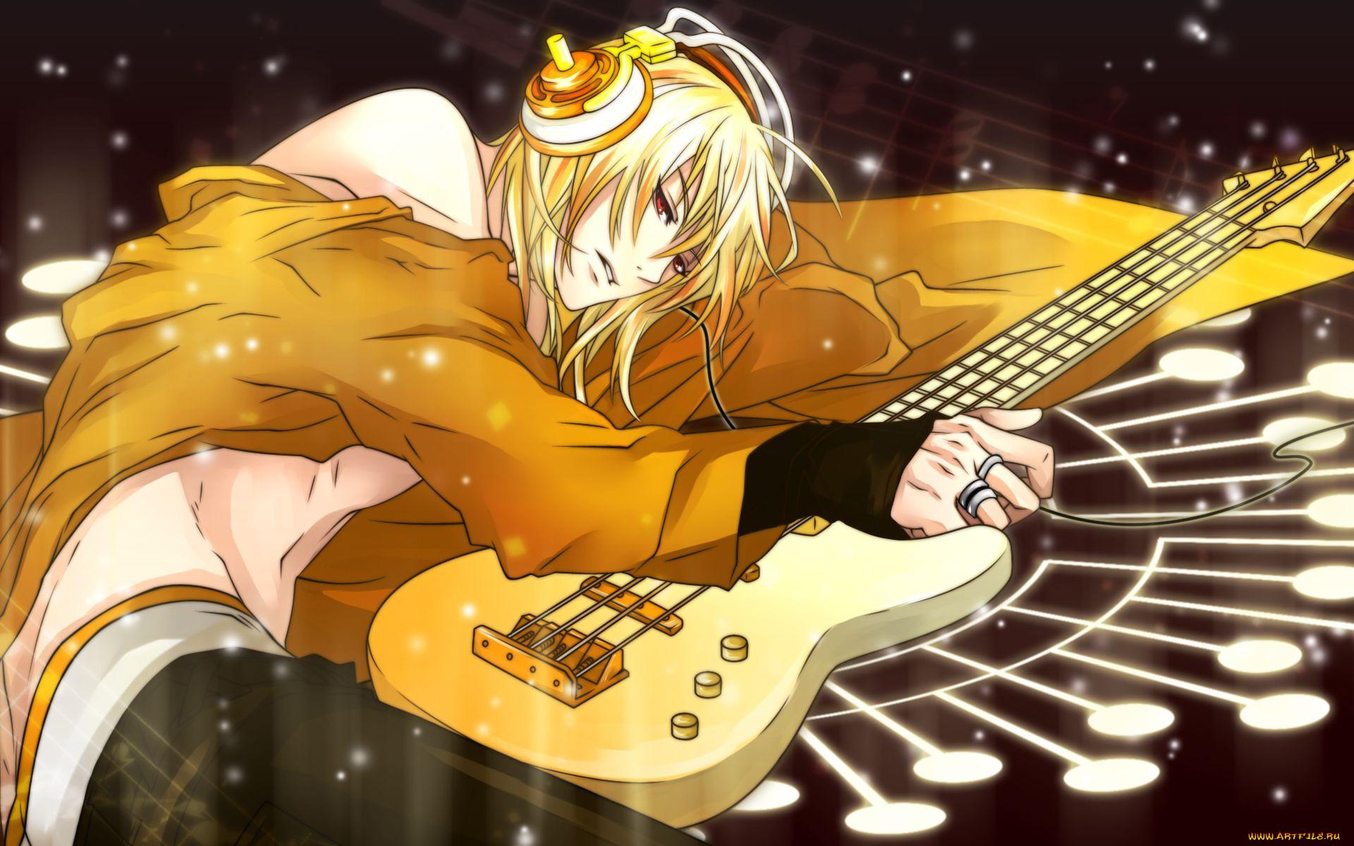 аниме, headphones, instrumental